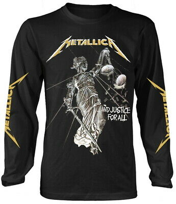 Metallica 'And Justice For All' (Black) LS Shirt  - NEW & OFFICIAL!