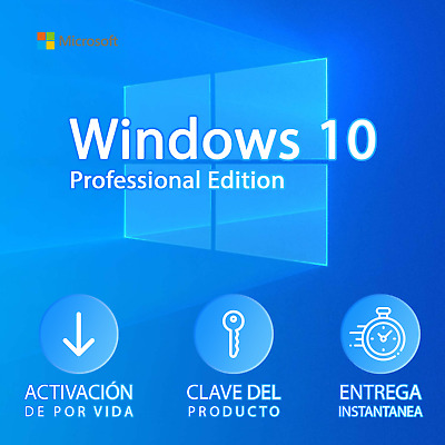 🔥 WINDOWS 10 PRO 32/64 Bits - Licencia ORIGINAL - ✅ Entrega INMEDIATA ✅