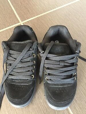 Kids Children's Black Skate-type Primary School Shoes/Runners New - size 13