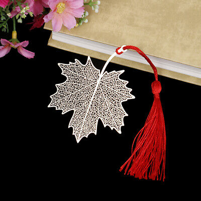 Creative golden hollow maple leaf metal bookmark stationery bookmark book clipMD