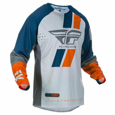 Fly Racing Evolution DST Motorbike Motorcycle Jersey Navy / Grey / Orange