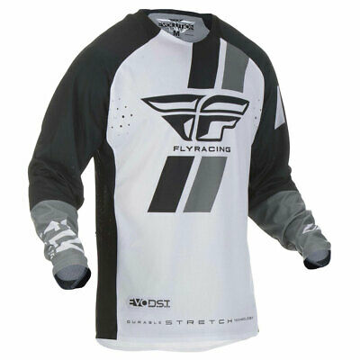 Fly Racing Evolution DST Motorbike Motorcycle Off Road Jersey Black / White