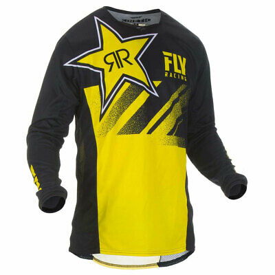 Fly Racing Kinetic Rockstar Motorbike Motorcycle Off Road Jersey Yellow / Black