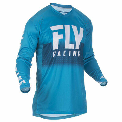 Fly Racing Lite Hydrogen Motorbike Motorcycle Off Road Jersey Blue / White