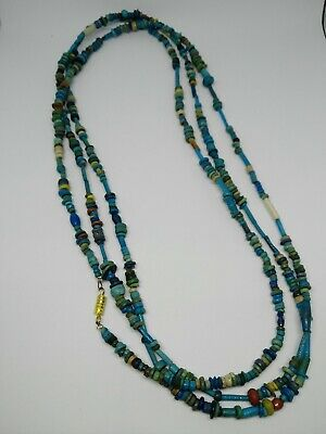 1427–1400 BC Egyptian faience glass bead necklace 700beads+