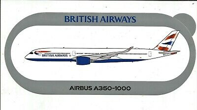 Nouveau A350-1000 British Airways Sticker Autocollant - Neuf