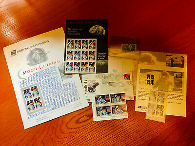 APOLLO XI - FIRST MOON LANDING collection of Stamps and Cache. 25th Anniversary