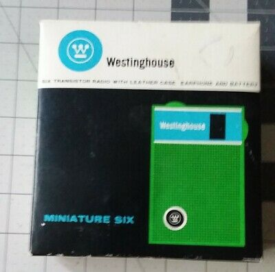 Westinghouse 6 transistor radio in the box with earphone & paperwork
