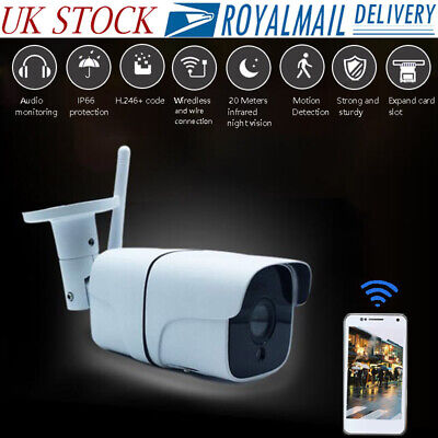 Outdoor Wireless WiFi IP Network Camera 1080P Night Vision CCTV IR Security Cam