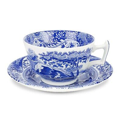 SPODE Blue Italian Tea Cup and Saucer x 4 Brand New Boxed rrp £158