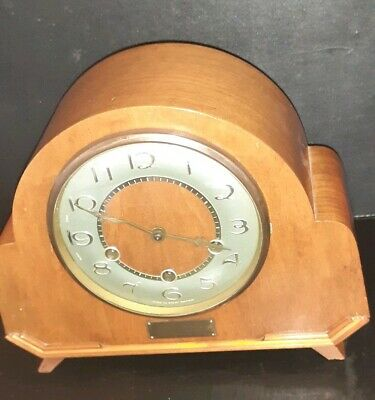 Smiths 8 Day Mantle Clock With Westminster Chimes Working