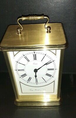 Franz Hermle @ SOHN German Mantle Clock Westminster CHIME BRASS EFFECT  WORKING