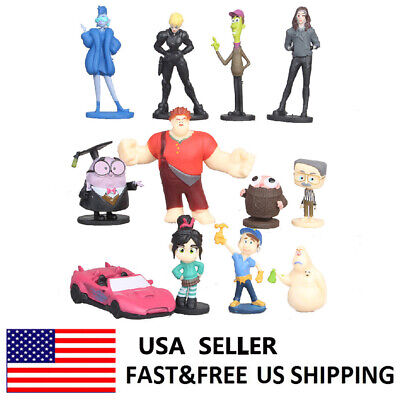 Wreck-It Ralph Ralph Breaks Ralph Infinity Movie Action Figure Toys Gifts 12PCS