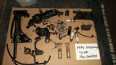 1997 FORCE MERCURY 120hp THROTTLE SHIFT LINKAGES MANY MISC