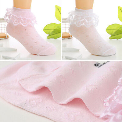 Summer Baby Toddler Cotton Lace Ruffle Princess Mesh Socks  Ankle Sock PopSC