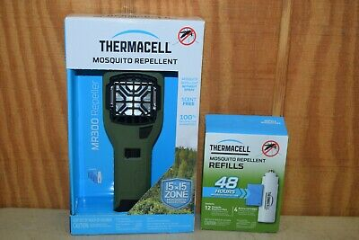 Thermacell MR300 15' x 15' Zone Mosquito Repellent With 48 Hour 4 Count Refills