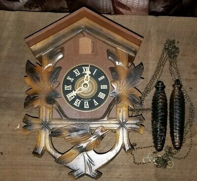 Vintage Cuckoo Clock - Made In Germany  (Does Not Work - Parts Only)