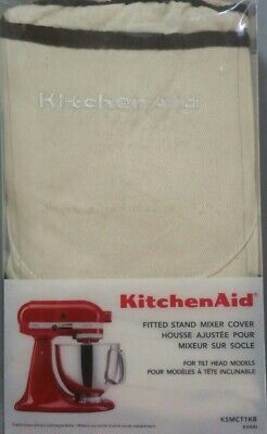 KitchenAid Fitted Stand Mixer Cover Cotton Washable for Tilt Head Models, Khaki