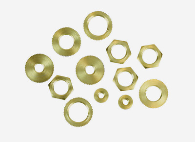 Jandorf HEX NUTS 12pk Brass Hold Together Connecting Part Lighting Fixture 60168