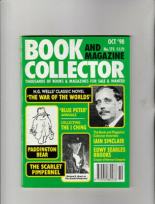 BOOK & MAGAZINE COLLECTOR Magazine October 1998 - HG Wells War Of The Worlds