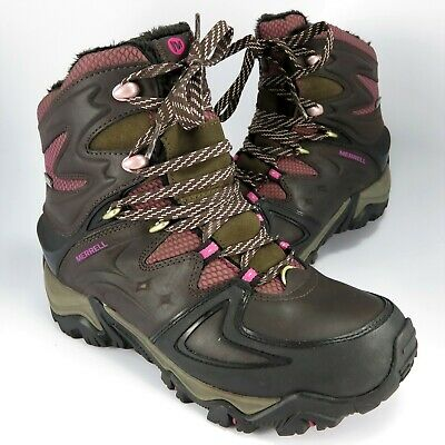 f77d31dc5bc MERRELL WOMENS POLARAND 8 Lace Up Waterproof Hiking Trail Cold ...