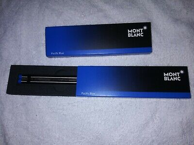Lot of 2 Montblanc Meisterstück Fineliner Pacific Blue Refills (Broad)  2x1/box