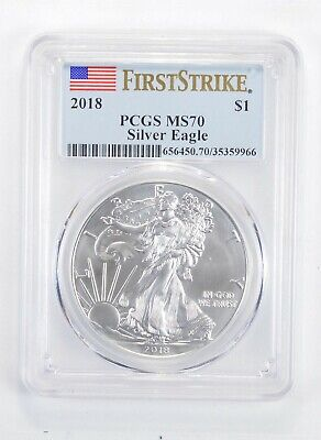 MS70 2018 American Silver Eagle - First Strike - Graded PCGS *300