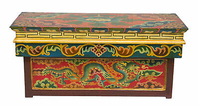 Table Tibetan in Tea Foldable Buddhist 61x26cm Dragon Furniture Autel 26491
