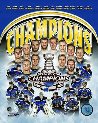 St.Louis Blues 2019 STANLEY CUP CHAMPIONS UNSIGNED 8x10 Photo Collage