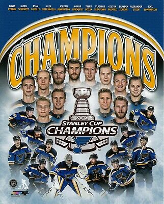 St.Louis Blues 2019 STANLEY CUP CHAMPIONS UNSIGNED 8x10 Photo Team Collage