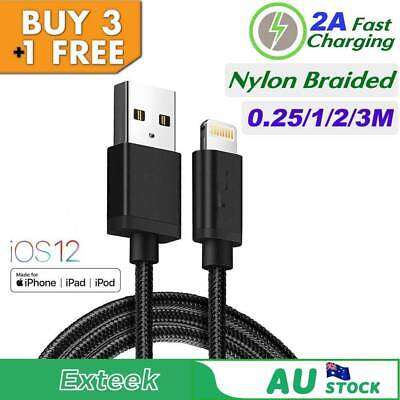 Apple Braided Lightning Sync Data USB Charging Cable cord iPhone X 6s 7 8 XR AU