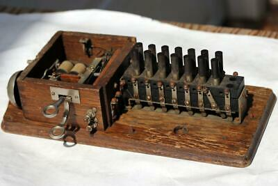Early Antique Telephone Switching Box with Bell