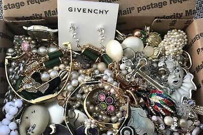 Huge Vintage To Now Junk Drawer Jewelry Lot Estate Find 455
