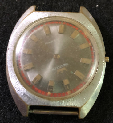 Vintage Westclox Men's Watch Parts/Repair Swiss