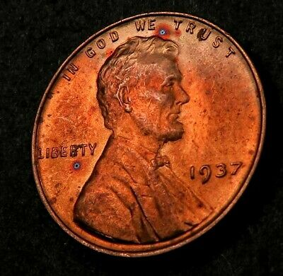 1937-P Lincoln Cent Wheat Penny ~ Choice BU *red* ~ #192