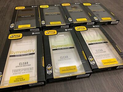 NEW OtterBOX Symmetry Case Samsung Galaxy Note 8, S8, S8+, S9, S9+ Black & Clear