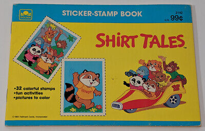 SHIRT TALES Sticker-Stamp Book VINTAGE Golden Books 1983 Hallmark Cards KIDS