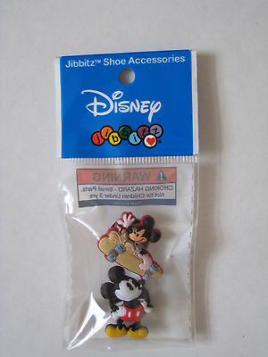 Disney Mickey Mouse JIBBITZ Croc Clog Shoe Charm Accessories Skateboard Classic
