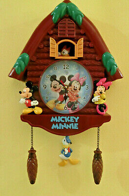Disney`s Mickey-Minnie and Daisy-Donald Cuckoo Wall Clock