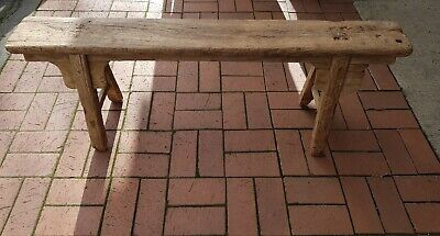 Primitive Chinese Elm Bench- Gold Fields Origions Circa1860's