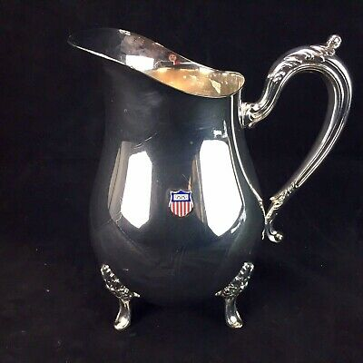 Newport Silver Plate Olympics Water Pitcher 8 3/8 Footed YB-510 EP