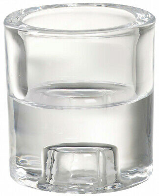 Bolsius Glass Holder 2 In 1 Round Clear Brand New Fast Postage