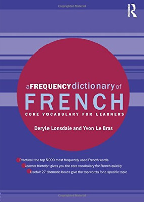 Le Bras, Yvon-Frequency Dictionary Of French (UK IMPORT) BOOK NEW
