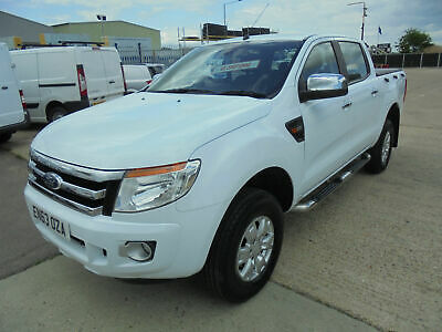 2014 FORD RANGER 2.2TDCi 150PS XLT 4x4 DOUBLE CREW CAB PICK UP TRUCK IN WHITE