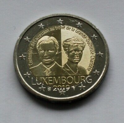 LUXEMBOURG - 2 € euro commemorative coin 2019 - Grand Duchess Charlotte UNC