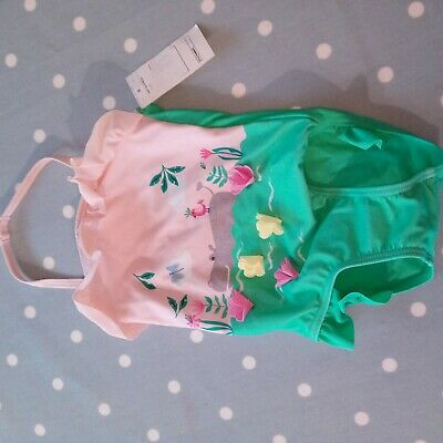 Baby girl swimsuit sea life theme Marks & Spencer age 1-1.5