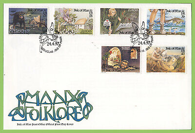 Isle of Man 1997 Europa. Tales and Legends set on First Day Cover