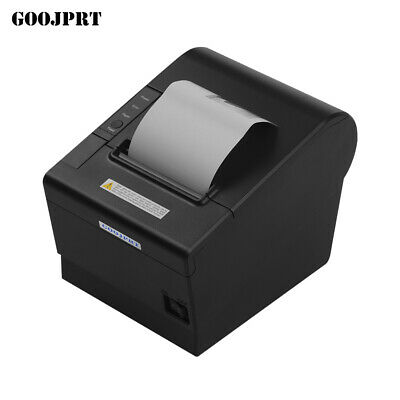 GOOJPRT 80mm Thermal Receipt Printer Auto-Cutting USB Ethernet Port / BT L9I4