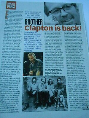 Clipping Coupure de Presse 1998 Brother Clapton is Back ! Blues Rock