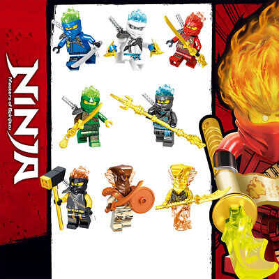 8Pcs Ninjago Ninja Snake Kai Jay Zane Nya Lloyd Mini figures Building Blocks Toy